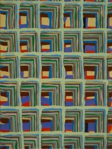 "Joel Bacon Untitled ""membranes"" #1, 2011 acrylic on canvas 12 x 9"""
