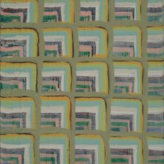 "Joel Bacon Untitled ""membranes"" #2, 2011 acrylic on canvas 12 x 9"""