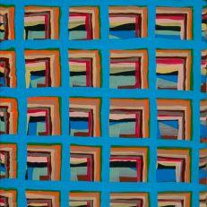 "Joel Bacon Untitled ""membranes"" #3, 2011 acrylic on canvas 12 x 9"""