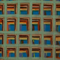"Joel Bacon Untitled ""membranes"" #4, 2011 acrylic on canvas 12 x 9"""