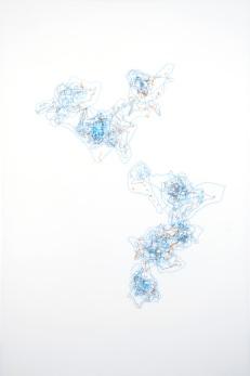 Kariann Fuqua On the Horizon, 2011 Ink on Mylar 24x 36″