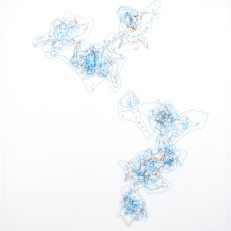 Kariann Fuqua On the Horizon, 2011 Ink on Mylar 24x 36″