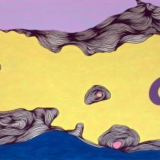 Deanna Lee Yellow drift, 2011 acrylic on paper 34 x 58″