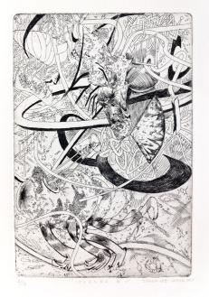 "Jiyoun Lee-Lodge Islands 1, 2010 etching 9 x 6"""