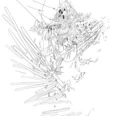 "Jiyoun Lee-Lodge Wills, 2010 drawing printed on paper 19 x 13"""