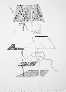 Mitch Patrick Windowpanes, 2011 pen and ink on paper 12.5 x 17.25""