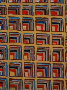 "Joel Bacon Untitled ""membranes"" #5, 2011 acrylic on canvas 12 x 9"""