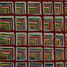 "Joel Bacon Untitled ""membranes"" #6, 2011 acrylic on canvas 12 x 9"""
