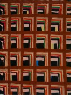 "Joel Bacon Untitled ""membranes"" #7, 2011 acrylic on canvas 12 x 9"""