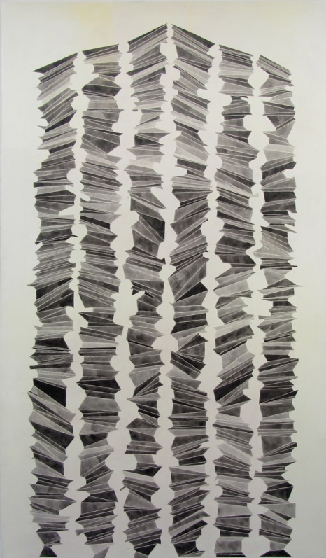 Roberta Gentry Roswell Ink and Acrylic on Canvas 48 x 84 inches, 2012