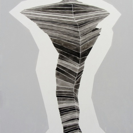 Roberta Gentry Pole 1 Ink and Acrylic on Canvas 24 x 36 inches, 2012