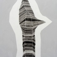 Roberta Gentry Pole 2 Ink and Acrylic on Canvas 24 x 36 inches, 2012