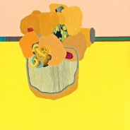 Jenny Kemp Mother Heart Oil on Paper Mounted on Panel 22 x 32 inches, 2011