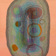 Jenny Kemp Concentricity 1 Gouache on Paper 20 x 30 inches, 2012