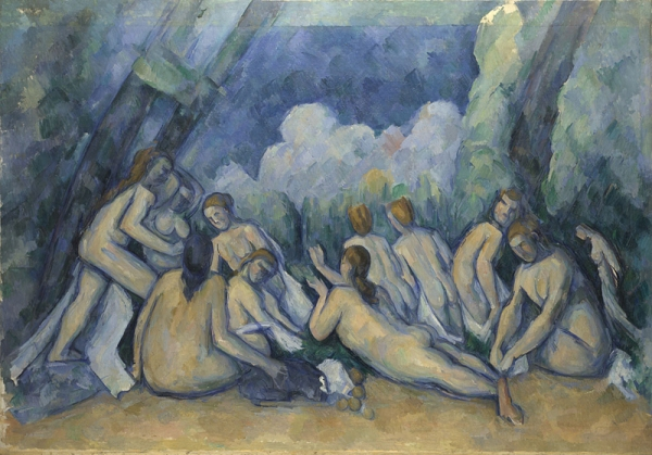 Paul Cézanne, Bathers (Les Grandes Baigneuses), about 1894-1905 Oil on canvas, 127.2 x 196.1 cm