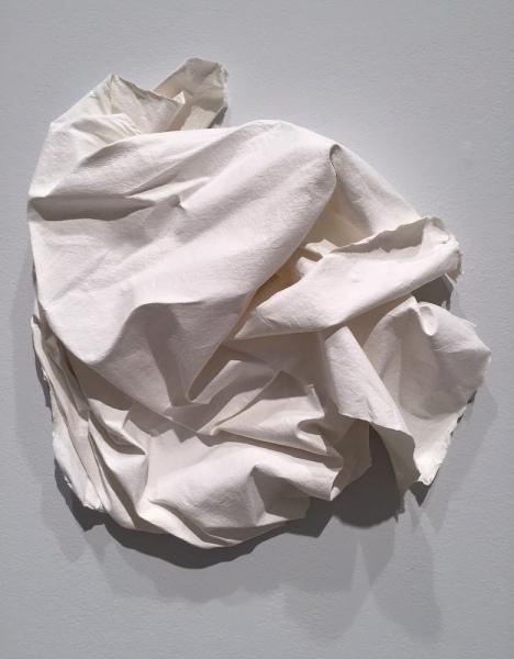 Alyssa Casey, Let Go (Per Teresa A Roma) 2012, Handmade cotton/pine paper, Overall installation dimensions variable.
