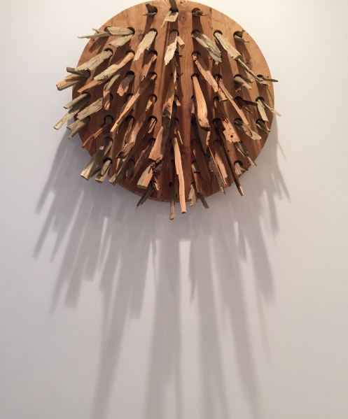 Colby Claycomb, Soft Kiss of Sunrise, 2014, Lumber, plywood, 40 x 46 x 58 in.