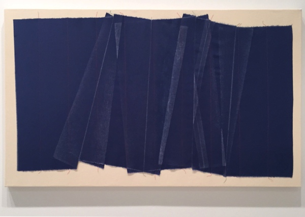 Michael Milano, Pleats, 2015, Canvas, thread, 32 x 52 in.