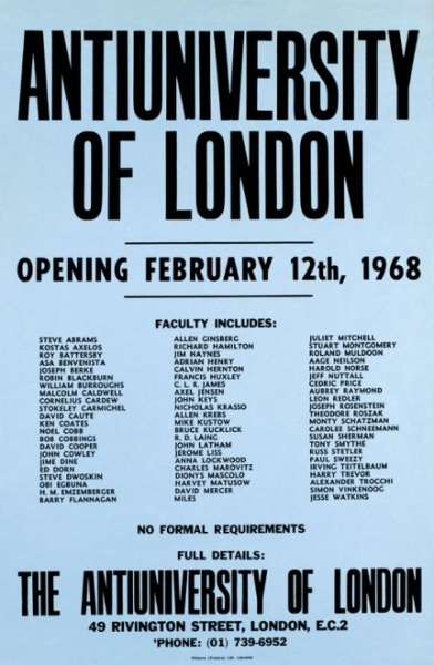 The 1968 Antiuniversity of East London